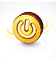 circular power button vector image vector image