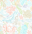 seamless pattern of wild ocean life vector image