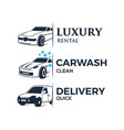 car services logo vector image