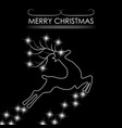 christmas card abstract silhouette of a deer vector image