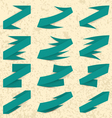 Collection of the green ribbons vector image