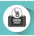 movie video camera cinema ticket vector image