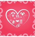 pattern Valentines Day vector image