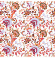 seamless wallpaper with floral ornaments vector image