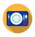 Served table icon in flat style isolated on white vector image