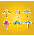 set of color icons with umbrellas vector image