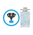Second Prize Rounded Icon with 1000 Bonus Icons vector image