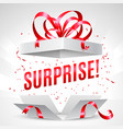 surprise gift box vector image