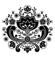 Norwegian folk art Bunad black pattern vector image