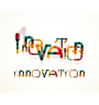 Innovation word concept vector image vector image
