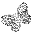 butterfly sketch vector image vector image
