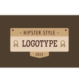 Hipster modern thin style logo vector image