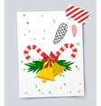 Christmas tree flat icons set vector image