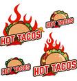 Hot tacos vector image