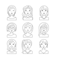 avatars people women vector image