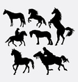 Horse pet animal silhouette vector image