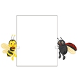 Insect cartoon holding blank sign vector image