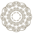 Lace flower round napkin vector image