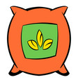 seeds bag icon cartoon vector image