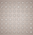 Stroke Arrow Round Icons Set vector image