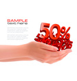 two hands with sale vector image