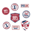 UK stamps and badges vector image