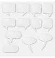 White speech bubble cards vector image