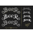 Word Beer vector image