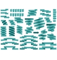 banner ribbon Ribbons icon set blue vector image