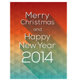 Happy New Year abstract triangle Background vector image vector image