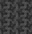 Dark gray ornament with translucent rounded shapes vector image