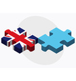 United Kingdom and Fiji Flags vector image