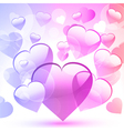 glossy valentine heart vector image vector image