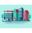 Amsterdam city design flat vector image