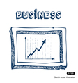 Business graphic frame vector image