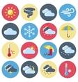 Weather Forecast Icon Set vector image