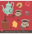 Coffee design elements vector image