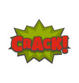 comic boom crack icon flat style vector image