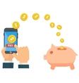 finance money saving vector image