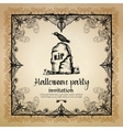 Halloween Vintage Invitation With Frame vector image