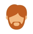 Head man with redhead beard without face vector image