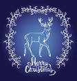 merry christmas card and snowflake decoration vector image
