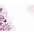 Pink and black floral background backdrop vector image