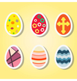 set of color icons with Easter eggs vector image