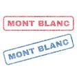 mont blanc textile stamps vector image