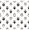 seamless pattern with cute cartoon black owls vector image vector image