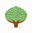 human hand green tree concept for social help vector image vector image
