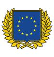 european union emblem vector image vector image