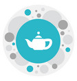 of cooking symbol on teapot vector image