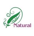 Natural food emblem or label vector image vector image